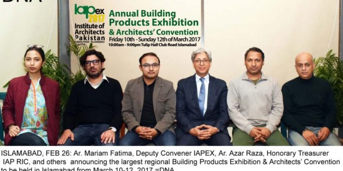 Architects convection to be held on March 10