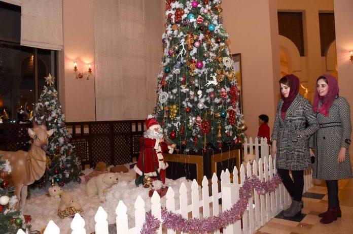 Christmas tree lighting at Islamabad Serena Hotel