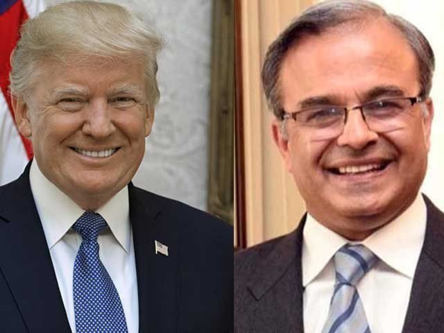 Dr Asad Majeed Khan presents credentials to US President Donald Trump